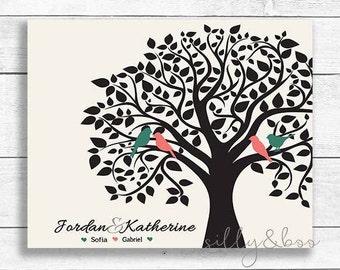 Family Tree, Printable Family Tree, Custom Family Tree, Personalized Family Tree, DIGITAL FILE ONLY