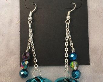 Handmade Turquoise Jingle Bell Earrings