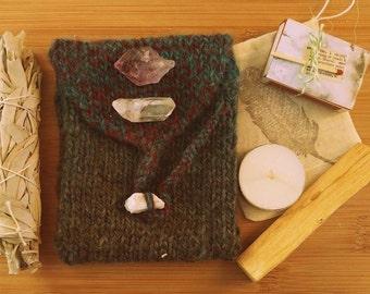 Tarot Kit // Tarot Card Knit Bag