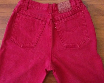 Red Vintage Levi's 501 Jeans - Women's - Made in the USA - Vintage 13S - Fit like 30W/29L