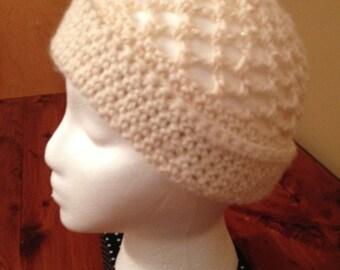 Crocheted open weave cap