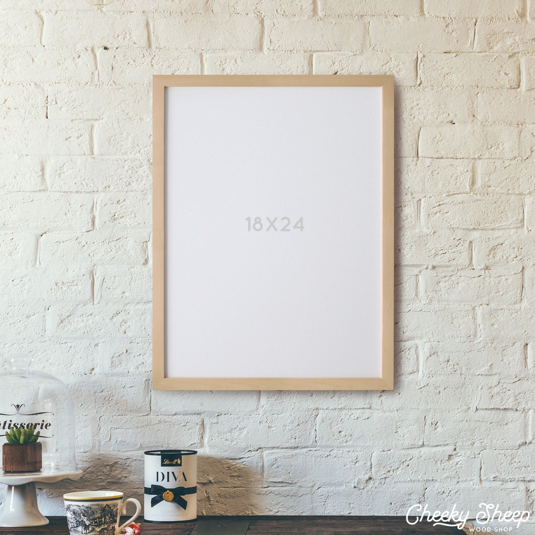 18x24 poster frame no glass 18 x 24 unfinished wood poster frame art frame photo frame large poster frame large format frame - Wood Poster Frames