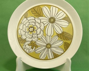"""1970's Almier - Gold  by Premiere Deluxe China  12"""" Chop Plate D9401 Made in Japan Ben Siebel Oven to Table to Dishwasher"""