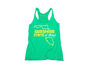 Sunshine State of Mind Tank Top, women's clothing, next level tank, racerback tank, tops and tees, women's tank