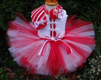 Candy Cane Tutu Dress, Candy Cane Outfit, Christmas Tutu Dress, Christmas Outfit, Candy Cane Set, Toddler Christmas Dress, Baby Holiday Tutu