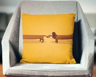 Daschund Gift | Daschund Pillow | Daschund Throw Pillow | Daschund Pillow Cover | Daschund Home Decor | Daschund Cushion | Daschund Decor