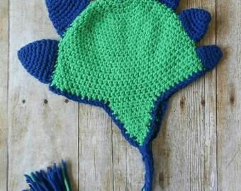 Spikes dinosaur hat - dino beanie - dinosaur costume - dinosaur lover - dino costume - dinosaur photo prop - dinosaur beanie - dino hat