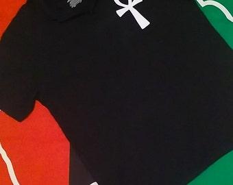 Black Ankh RBG Polo Shirt