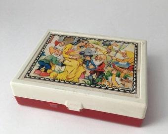 Vintage West German fairytale block puzzle, Grimm story block puzzle, West Germany puzzle, fairytale cube puzzle, Snow White block  puzzle