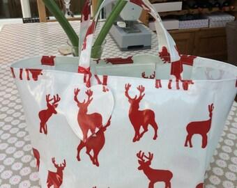 Shoulder Bag - Oilcloth Tote Bag - Shopping Tote - Oilcloth bag - Shopping Bag - Market  Bag - Shoulder Bag - Tote Bag - Market Tote - Bag