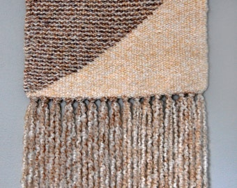 Brown or Multicolored Stripes Wall Hanging - Reversible - Large