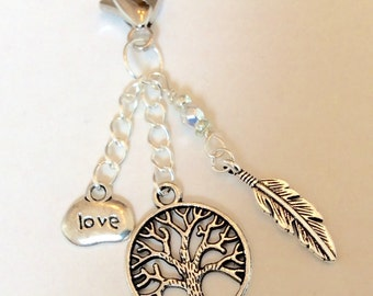 Tree of life and Love bag or keychain