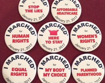 Pin Set,Stop the Lies,Here to Stay,Equal Rights,Affordable Care,My Body,Women's Rights,Planned Parenthood,Human Rights,