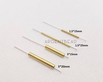 10 pcs 15/20/25 mm Square Raw Brass Tubes brass tube,round brass tube,round tube AG195/192/194/193 Argentbead