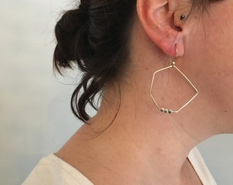 Graphic earrings, unique pieces / / Silver 925 / / EP 17 - Points collection on line