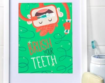 Brush Your Teeth, Myko! in Kiwi