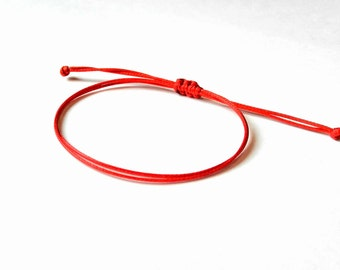 Red String Bracelet, Kabbalah Bracelet, Evil Eye, Red String Of Fate, Good Luck Bracelet, Amulet, Thread Bracelet, Protection Bracelet, Men