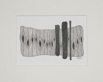 Dandelions, art, drawing, abstract, geometry, illustration, decoration, living, wall decoration, black, grey, Fineliners, ink, type