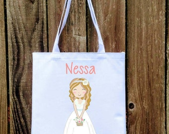 Personalized Flower Girl Tote | Flower Girl Gift | Flower Girl Keepsake | Flower Girl Present |