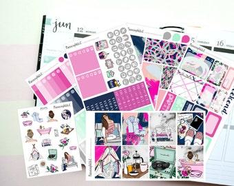 "Lazy Day/Sunday/Fashion ""Pyjamas"" is a Planner Sticker Kit for Vertical Erin Condren Style Planning, Kikki K, Filofax"