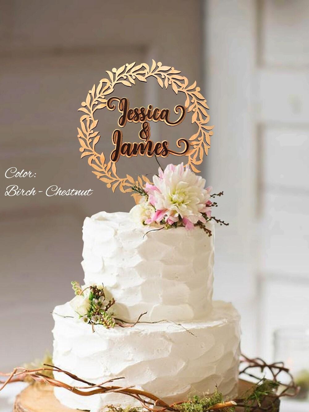 Cake Topper Wedding Rustic Wedding Cake Topper Wreath Cake