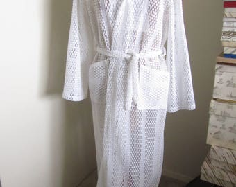 "Beautiful Vintage White Cover Up ""Put-Ons by Carvana"", Large, Polyester"