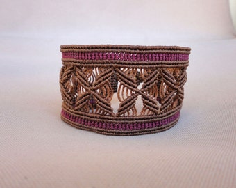 The Flower Cuff - macrame bracelet
