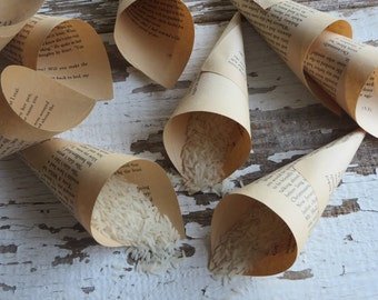 Wedding Rice Throwers. 12 Paper Cones, Wedding Season, Wedding Throwers, Paper Rice Throwers | YoKreye