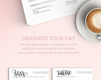 Daily planner sheet - Letter size