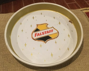 Bandeja antigua de cerveza Falstaff St. Louis Missouri