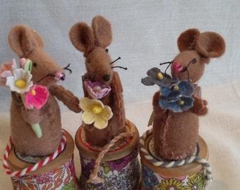 Cotton Reel Mice