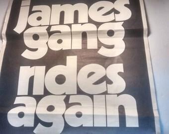 Vintage JAMES GANG Rides Again Concert Poster
