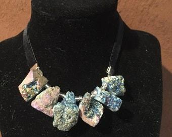 Blue Kaleidoscope Stone Necklace