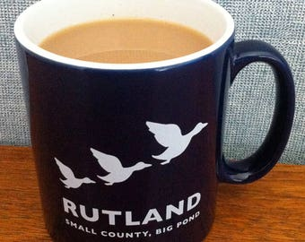 Rutland ceramic midnight blue mug