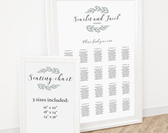 Wedding Seating Chart Template Find Your Seat Sign Table Seating Chart Wedding Seating Chart Instant Download Seating Sign Chart Printable