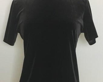 90's brown velvet turtle neck