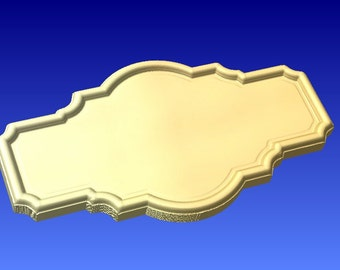 Wood sign pattern background shape for cnc carving.  This is pattern only for cnc sign projects and 3d clipart.