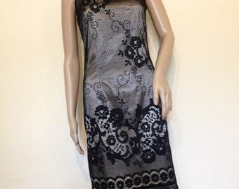 Vintage Newport News Black Lace Dress LBD