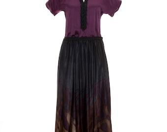 Prune silk dress embellished privatemedina maxi dress