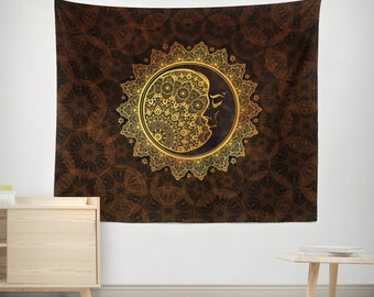 Brown Wall Tapestry,Yoga Meditation, Mandala Wall Hanging,Wall decor, Mandala tapestry, dreamy, hangings, Home Decor, Wall Decor