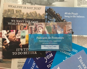 Postcards for Protesters - Health Care Edition (8 Pack)