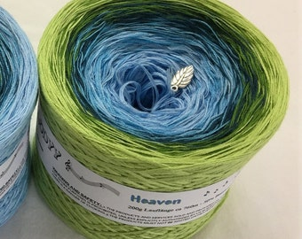 Heaven - Green Cotton Yarn - Blue Cotton Yarn - Gradient Yarn - Crochet Yarn - Knitting Yarn - Wolltraum Yarn - Ombre Yarn - Acrylic Yarn