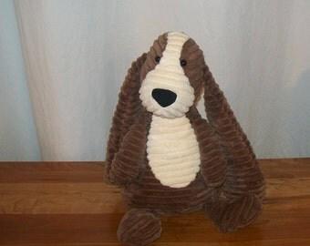 Quality Sensory Weighted Plush Stuffed Basset Hound Puppy Dog