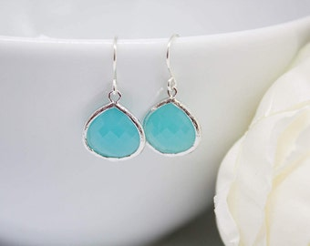 Earrings 925 Silver stone turquoise