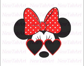 minnie mouse sunglasses svg Minnie Mouse svg disney svg mickey with sunglasses svg mickey mouse svg files for Cricut Silhouette Disney Cut F