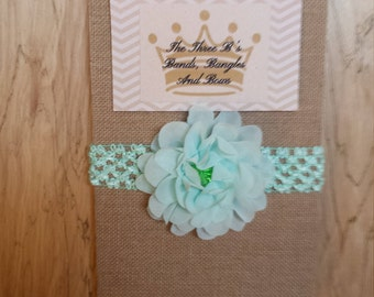 Mint Green Chiffon Flower Headband