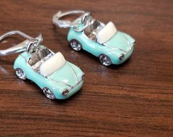 Convertible earrings 925 silver clasp -- mint green -- adorable !!!!!! exclusively by Trailer Trash