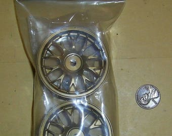Set of 2 Vintage 1997 Tamiya Porsche 911 GT1 Front Wheels SP-741