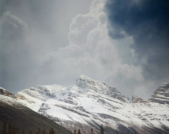 """Storm Clouds Over Rocky Mountain Print, Alberta Landscape Photography, Large Wall Art, Nature Print, Wall Decor """"Epic"""""""