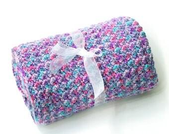 Extra Thick Purple Crochet Baby Blanket. Kids Lapghan. Bulky Purple Afghan. Floor Blanket. Boy or Girl Blankie. Pet Blanket. Car Seat Cover